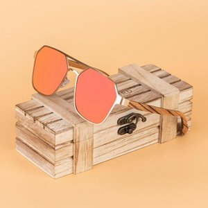 New Bobo Bird Bird Wood Sunglasses Polarizado UV400 Moda Mulheres Óculos Verão Viagem Grandes Presentes Top Marca Dropshipping