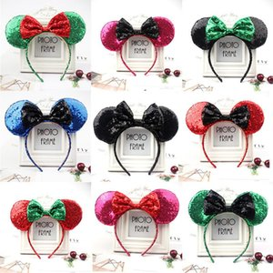 Halloween e decorazioni natalizie Qualità Paillettes Fasciature Bella Big Bow Fascia per bambini Adulti Party Hair Jewelry 53 Styles DHE3255