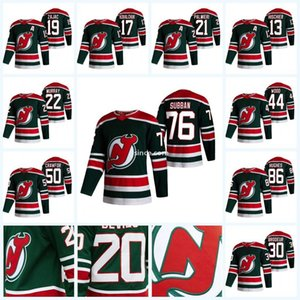 Youth New Jersey Devils 2021 Ters Retro Jersey Jack Hughes P.K. Subban Corey Crawford Nikita Gusev Miles Wood Nico Hischier