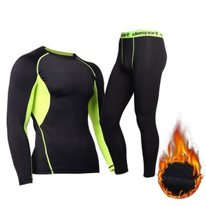 Winter Long Compression Underwear Quick Dry Thermal Underwear For Men Male Thermo Clothes Long Sport Sets Thermal Tights
