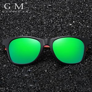 GM New High Quality Square Sunglasses Men Polarized UV400 Fashion Sunglass Mirror Sport sun glasses Driving oculos