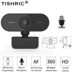 Tishric Webcam 1080p 200W Pixels AutoFocus Web Cámara web con micrófono Full HD Web CAM USB computadora webcam PC cámara1
