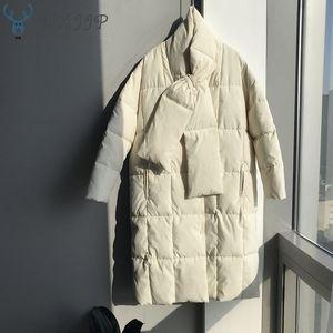 Cappotto Oversize Giù Hxjjp 2020 New Winter delle donne con il fazzoletto di cotone lunga Giacche