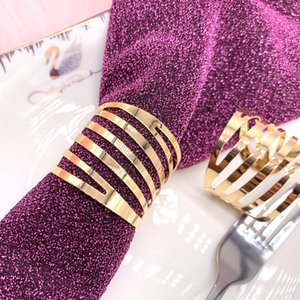 Factory wholesale wedding napkin buckle opening Swivel hollow hotel high-end restaurant napkin ring two colors available customize supported