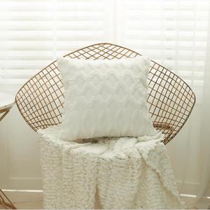 2021 Soft Plush Decorative Throw Pillowcase Geometric Pattern Sofa Cushion Cover Pillow Case for Bedroom Home Decoration Bohemian Ins AL8073