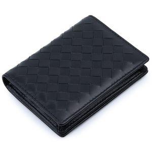De luxe fait main douce peau de mouton Knitting Carte Portefeuilles 100% Cuir véritable Hot Marque Porte-cartes Carte unisexe cas C1115