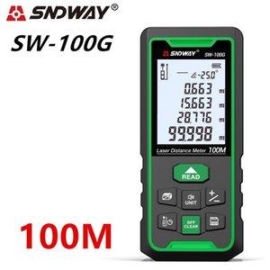 SNDWAY Green Trena Laser Laser DradeFinder Расстояние Месящика Дальность дальности Лента Измерение Ангел Электронная линейка Рулетка T200603