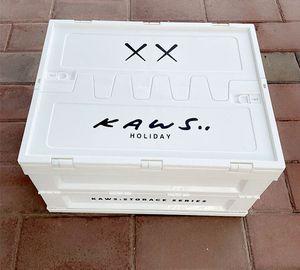 KAWS Aufbewahrungsboxen Bins 30 * 41 * 45 cm Home Auto Kofferraum Falten Aufbewahrungsbox Organisation Kunststoff Weiße Mode Großhandel