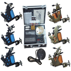cosmetic tattoo machine permanent makeup gun set 6 machines professional piercing kits tattoo equipment china