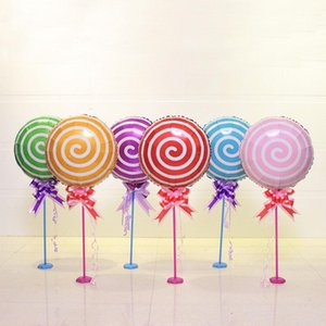 1 set 6 colors for choose Lollipop Foil Balloons Table Column Balloon Birthday Party Decorations Wedding Event Party Supplies