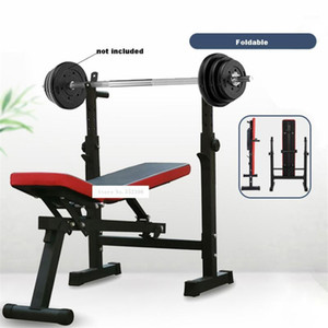 Multifunctional Weight Bench Barbell Rack Weightlifting Bed Folding Barbell Lifting Training Bench Bracket Press Frame1