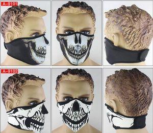 Неопреновые езды на велосипеде защитные маски тактические CS призраки маски наполовину лицо ветрозащитный открытый сноуборд велосипедный мотоцикл дьявола маска балаклава