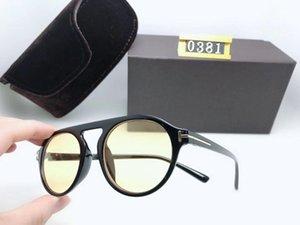 Роскошный лучший Qualtiy Новая мода Женщины 0381 Солнцезащитные очки для мужчины Женщина Erika Очки дизайнерские бренды Солнцезащитные очки с оригинальной коробкой UV400