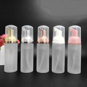 50 ml Seyahat Köpük Şişeleri Buzlu Plastik Köpük Şişeler Altın / Gümüş Pompa El Yıkama Sabunu Mus Krem Dispenseri Kabarcar Şişe BPA Ücretsiz