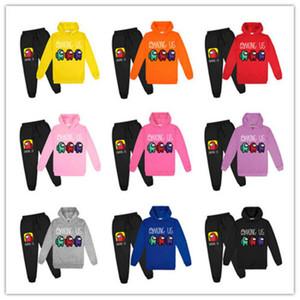 2 шт. / Комплект среди нас игра в США Детская детская одежда наборы одежды Девушки Мальчики Scestsuits Мода спортивные костюмы толстовки толстовки + брюки одеждаFY9320