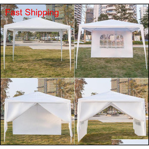 10x10ft Party Wedding Outdoor Patio Tent Canopy Heavy Duty 3 X Four Sides Portable Waterproof Gazebo Pavilion qylgly bde_luck