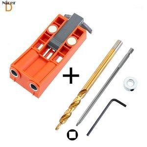 Conjunto de guía de guía de brocas Oblique Oblique Hole Locator Bols Bolsillo Jig Guía de la guía de perforación Localizador de perforación con accesorios1
