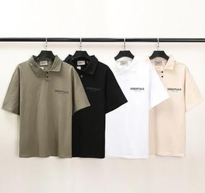 20sS Ins Sommer Hip Hop Essentials 3D Silicon Polo T-Shirt Skateboard T-shirt Nebel Männer Frauen Kurzarm Casual T-Shirt