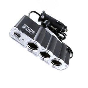 2019 4 in 1 3-Socket Cigarette Lighter Splitter 12V 24V Car Power DC Outlet Adapter with USB Charging Ports Car Charger