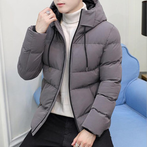 2020 New Men Winter Jacket Coat Hooded Warm Windproof Parkas Mens Thick Parka Casual Student Slim Fit Outwear