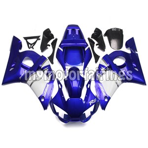 Bodywork pour Yamaha YZF R6 1998 1999 2000 2001 2002 Farécences YZF-600 98 99 00 01 02 Cadres corporels - Bleu Blanc