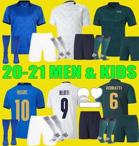 20 21 21 إيطاليا الرئيسية Soccer Jersey Men Kids Kits 2020 2021 Italia Maglie da Calmio Verratti Jorginho Romagnoli
