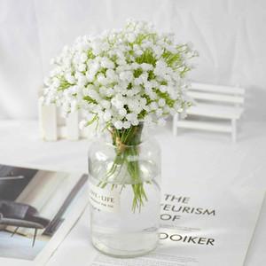 2 Bouquet Artificial Gypsophila White Babies Breath Flowers For Home Decor Fake Flower Wedding Bride Bouquet DIY Wreath Supplies