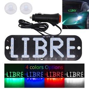 Taxi LED LIBRE muestra de la luz azul verde blanco del rojo del coche parabrisas de la cabina interior Indicador de señal de luz de la lámpara 12V Comp parabrisas