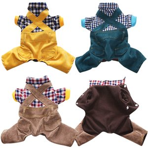Winter Dog Cats Coat Cotton Clothing for Pet Hoodies Chihuahua Pets Dogs Clothes Pajamas Costume 30 Y1124
