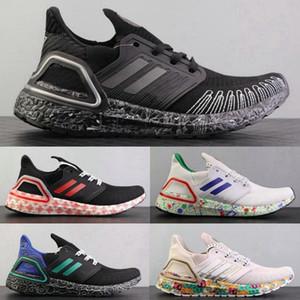 2020 Yeni Ultraboost 20 UB 6 .0 Erkekler Için Koşu Ayakkabısı Ultra Konsorsiyum Siyah Kırmızı Zafer Yeşil Beyaz Kadın Eğitmenler Spor Sneakers Chau