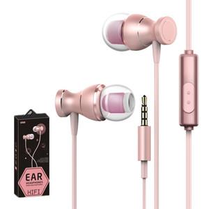 Металлические магнитные наушники 3,5 мм в ушных наушниках Hifi стерео-гарнитура универсальная для Samsung Galaxy S10 S9 Huawei P30 Mate 40