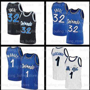 Shaquille 32 Oneal Jersey Penny 1 Hardaway Tracy Jonathan Magic McGrady Isaac Orlando NCAA Memphis State Tigers Koleji Basketbol Formaları