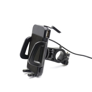 Generic 2 in 1 Waterproof Motorcycle Cell Phone Mount Holder with USB Charger Power Switch 3.3FT Power Cable