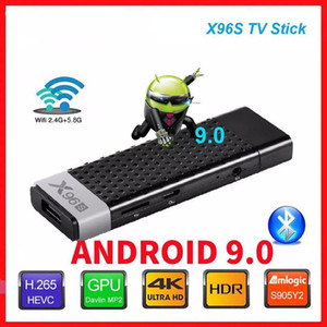 TV Stick Android 9.0 X96S 4GB 32GB Amlogic S905Y2 Quad Core 4K 2.4G 5G Dual Wifi Bluetooth 4.2 1080P Stick TV X96 Android Box