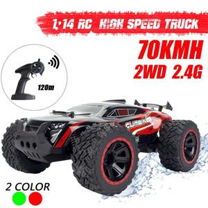 1:14 70km / h 2WD Control remoto fuera de carretera Cars Cars Vehículo 2.4GHz Crawlers Electric Monster RC CAR Y200414