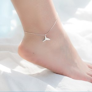 SwDTV Yite S925 all-body sterling silver Korean style cute temperament Foot foot chain mermaid slimming ankle chain design fishtail anklet f