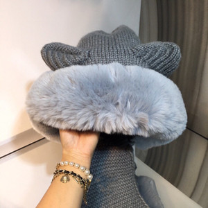 2020 scarf hat new product scarf one-piece hat fur matching the latest autumn and winter plush hat selected fashion items free shipping
