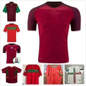 레트로 포르투 게사 FIGO 포르투갈어 축구 유니폼 1999 2002 2004 2010 2012 로날도 RUI COSTA 축구 셔츠 NANI F.COENTRAO 고대 타이츠