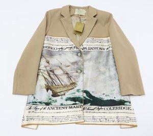 New Fashions Brand 2020 Autunno Blazer Giacche di alta qualità Cotton Hip Hop Donne Abito a maniche lunghe Dress Stampa Uomo Vento Giacca Cappotto irregolare