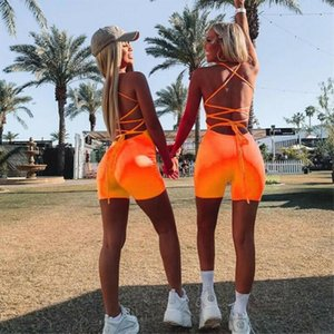 Women Romper Jumpsuit Shorts Bodycon Playsuit Bandage Strappy Mini Rompers Jumpsuits Clubwear Backless Bodysuits New Hot