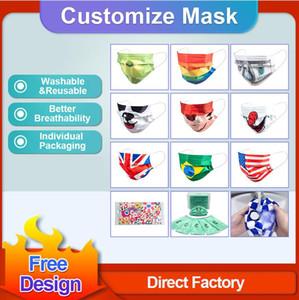 2021 Custom Logo Face Masks Fashion Designers Adults Among Us Games Anti Dust Windproof Party Mask Washable Reusable Kids Adults Unisex Mask