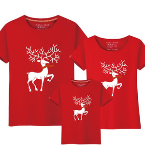 Matching Family Outfits Father Son Clothes Dad Mom Baby Mother Daughter Short Sleeve Christmas Family Look Tops T Shirts
