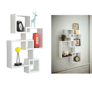 Holz-Wandregale Display Floating Storage Organizer Funiture Home Decoration US