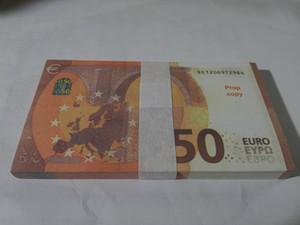 Горячие Продажи PROP Money Fake 20/50 Евро Копировать Банкнота Детская Бумага Игрушки Подсчет Копия Обратите внимание Бесплатная Доставка 01