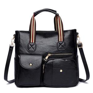 New ladies fashion shoulder bag large capacity retro frosted PU leather ladies handbag luxury designer casual shopping handbag