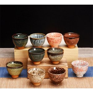 6 unids Cerámica Cerámica Utensilios de TEEWARE DE TEA DE TEA CHINO Kungfu Conjunto de té Taza de té Sake Cups 50ML Copa Master Pequeño Té De SqcFRS