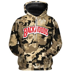 E-Baihui Backwoods Camouflage Hoodie Streetwear Мужчины и женские Толстовки Моды Буквы Harajuku Личности Pullovers 4321