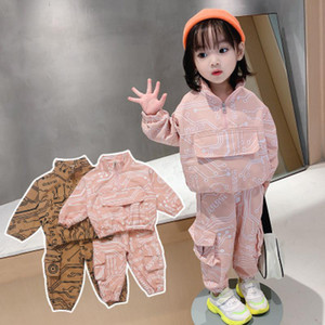 Kids Children's Clothing Circuit Board Design Baby Boys Girls 2 Pcs Set Tracksuit for Toddler 3 Years Old 2020 Fall Cute Suit Y1117