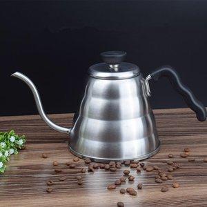 Paslanmaz Çelik 1000 ml / 1200 ml çay kahve su ısıtıcısı termometre ile gooseneck 7mm ince musluğu kahve pot üzerinde dökmek için q0107