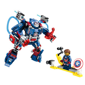 Kid puzzle assemble building blocks cartoon deformation mecha warrior high quality toy gift both boy and girl
